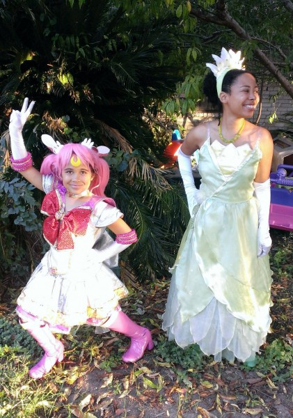 Mother and Daughter in Costume