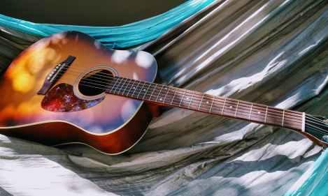 acoustic acoustic guitar guitar hammock